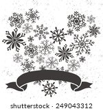 snowflake heart shape with... | Shutterstock .eps vector #249043312