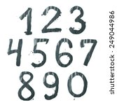set of ten number digit... | Shutterstock . vector #249044986