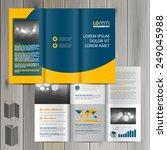 blue classic brochure template... | Shutterstock .eps vector #249045988