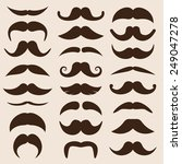 set of mustaches in retro style | Shutterstock . vector #249047278
