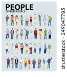 diverse group people standing...   Shutterstock . vector #249047785