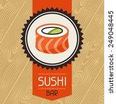 Background With Sushi. Japanese ...