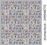 multiethnic casual people... | Shutterstock . vector #249048772