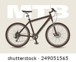 mtb bicycle isolated and... | Shutterstock .eps vector #249051565