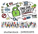 Online Security Protection Internet Safety People Diversity Concept - stock photo