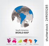 world map vector illustration | Shutterstock .eps vector #249055285
