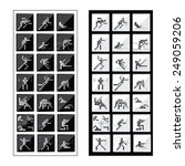 a set of sport icons   Shutterstock .eps vector #249059206