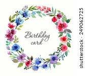 birthday card  wedding... | Shutterstock .eps vector #249062725