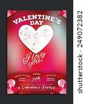 vector vintage flyer for... | Shutterstock .eps vector #249072382