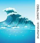 Illustration Of A Giant Wave I...