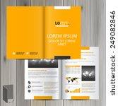 yellow classic brochure... | Shutterstock .eps vector #249082846