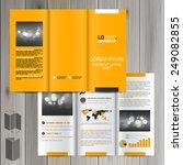 yellow classic brochure... | Shutterstock .eps vector #249082855