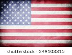 vintage american flag | Shutterstock . vector #249103315