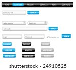website design set on a black.... | Shutterstock .eps vector #24910525