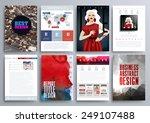set of design templates for... | Shutterstock .eps vector #249107488