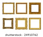 a picture frame on a white | Shutterstock . vector #24910762