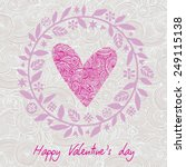 greeting card valentine's day...   Shutterstock .eps vector #249115138