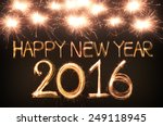 happy new year 2016 written... | Shutterstock . vector #249118945