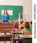 children in elementary school... | Shutterstock . vector #249120052