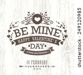 valentine day card with floral... | Shutterstock .eps vector #249120985