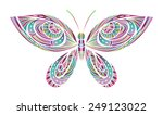 Abstract Bright Butterfly....