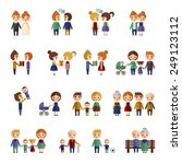 set of flat people | Shutterstock .eps vector #249123112