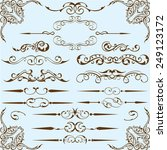 victorian style set is on blue | Shutterstock . vector #249123172
