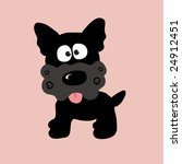 black curly yorkie vector | Shutterstock .eps vector #24912451