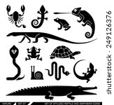 Set Of Various Animal Icons ...