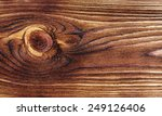 Knotted Wooden Board Close Up