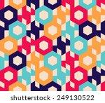 seamless vector geometric... | Shutterstock .eps vector #249130522