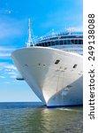 Large White Mooring Cruise Ship