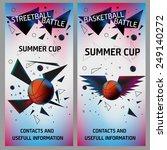 basketball and streetball... | Shutterstock .eps vector #249140272