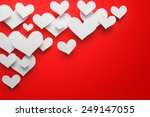 valentine's day abstract... | Shutterstock . vector #249147055