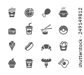 fast food icons set. | Shutterstock .eps vector #249149812
