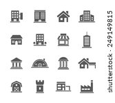building icons set. | Shutterstock .eps vector #249149815