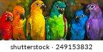 original pastel painting on... | Shutterstock . vector #249153832