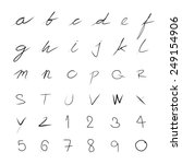 handwriting font set for use  | Shutterstock .eps vector #249154906