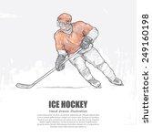 ice hockey background design.... | Shutterstock .eps vector #249160198