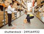 manager watching worker... | Shutterstock . vector #249164932