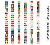 set of vector flags   Shutterstock .eps vector #24916651