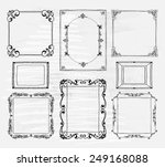 hand drawn frames set with... | Shutterstock .eps vector #249168088