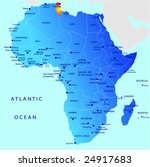 political map of africa  tunesia | Shutterstock .eps vector #24917683