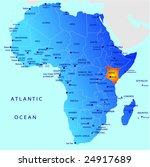 political map of africa  kenya | Shutterstock .eps vector #24917689