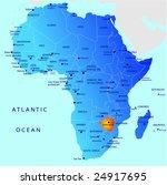 political map of africa ... | Shutterstock .eps vector #24917695