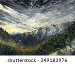 Landscape With Snowy Mountains...