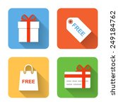 flat shopping gift icons....