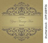 retro invitation or wedding... | Shutterstock .eps vector #249188956