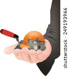 a small house on a hand | Shutterstock .eps vector #249193966