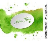 watercolor design element for... | Shutterstock .eps vector #249206626